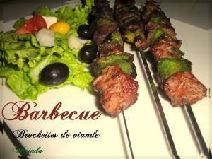 Brochette de viande au barbecue