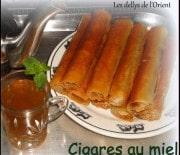 Cigares au miel farcis aux amandes