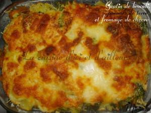 Gratin de brocoli aux pommes de terre et fromage de chèvre