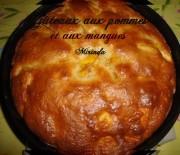 Gâteau facile aux pommes et aux mangues
