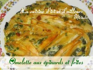 Omelette frites épinard (silk)