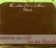 Tiramisu traditionnel au café ou au chocolat