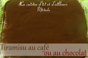 Tiramisu traditionnel au café ou au chocolat