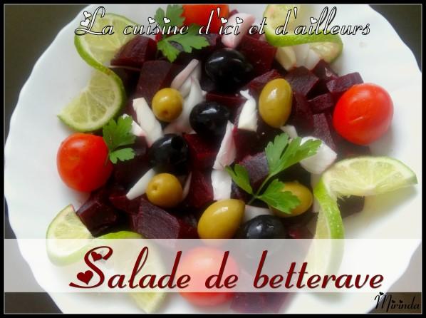 Salade de betterave facile à faire
