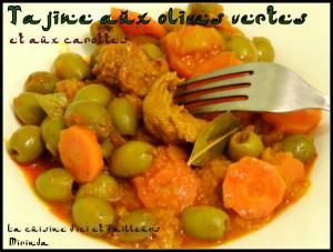 Tajine aux olives vertes dénoyautées et aux carottes