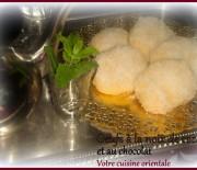 Oeuf à la noix de coco et au chocolat, gâteau algerien