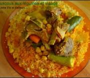 Coucous algérien aux légumes et viande