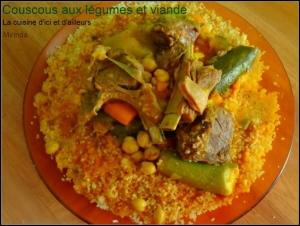 couscous aux légumes et viande