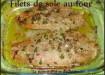 Filets de sole au four