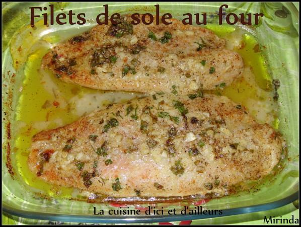 Filets de sole au four facile rapide et bon - Cuisiner des aubergines au four ...