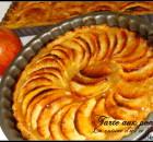 Tarte aux pommes avec compote de pommes