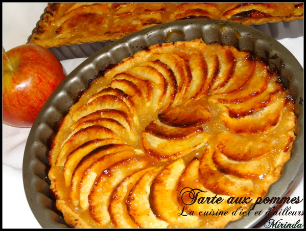 tarte aux pommes avec compote de pommes. Black Bedroom Furniture Sets. Home Design Ideas