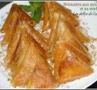 Briouates au amandes et au miel «pâtisserie marocaine»