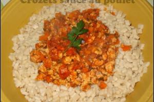 Crozets sauce au poulet